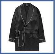 Clothing, Robe, Outerwear, Nightwear, Overcoat, Sleeve, Pattern, Dress, Coat, Pattern,