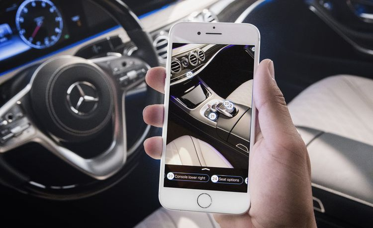 Mercedes-Benz Adds Augmented Reality Owner's Manual to 2018 S-class