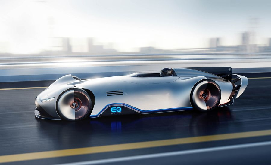 Mercedes-Benz's Stunning EQ Silver Arrow Looks to the Past to Influence the Future