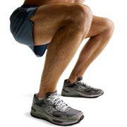 Guy Doing Squat Legs