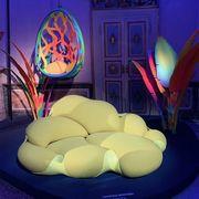 Blue, Chair, Furniture, Table, Interior design, Design, Room, Lamp,