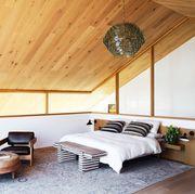 black, brown, white and minimalist bedroom