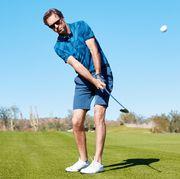 Golf, Golfer, Golf equipment, Iron, Golf club, Golf course, Professional golfer, Putter, Sport venue, Wedge,