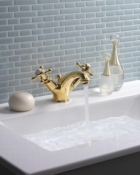 belgravia unlacquered brass basin monobloc