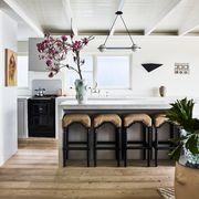 Ceiling, White, Interior design, Room, Furniture, Building, Floor, Wood flooring, House, Table,