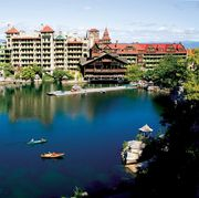 Water, Reflection, Blue, Lake, River, Reservoir, City, Town, Human settlement, Urban area,