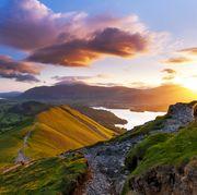 Mountain sunrise. Lake District National park. UK.
