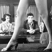 Elvis Presley Framed Between Womans Legs