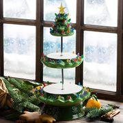 mr christmas nostalgic tree cupcake plate stand