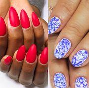 Manicure, Nail polish, Nail, Nail care, Finger, Cosmetics, Service, Hand, Artificial nails, Design,