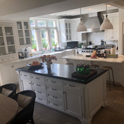 nancy meyers's kitchen features two islands