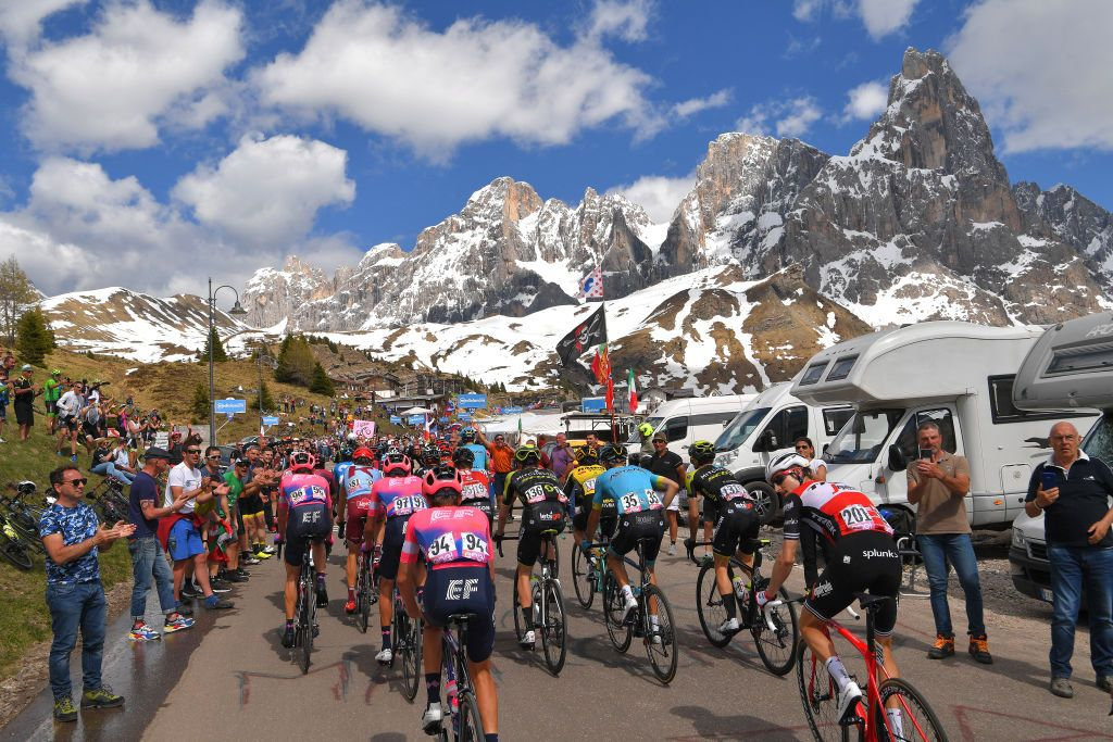 Riders during Stage 20 of the 2019 Giro d'Italia