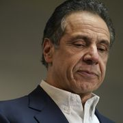 new york governor cuomo tours mass vaccination site in harlem at mount neboh baptist church