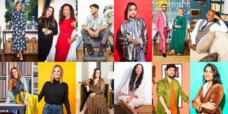 Clothing, Fashion, Yellow, Street fashion, Outerwear, Collage, Textile, Fashion design, Blazer, Jacket,