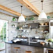 Countertop, Kitchen, Room, Furniture, Interior design, Property, Building, Floor, Ceiling, Tile,