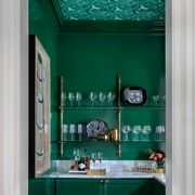 Green, Turquoise, Blue, Room, Teal, Interior design, Building, Furniture, Turquoise, Window,