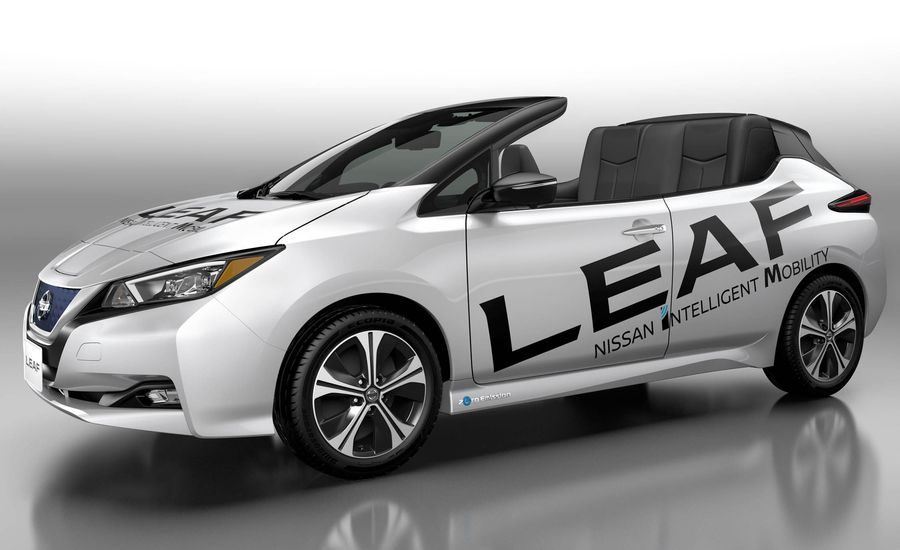 Nissan Leaf Open Car Is the Leaf Convertible You Probably Never Expected