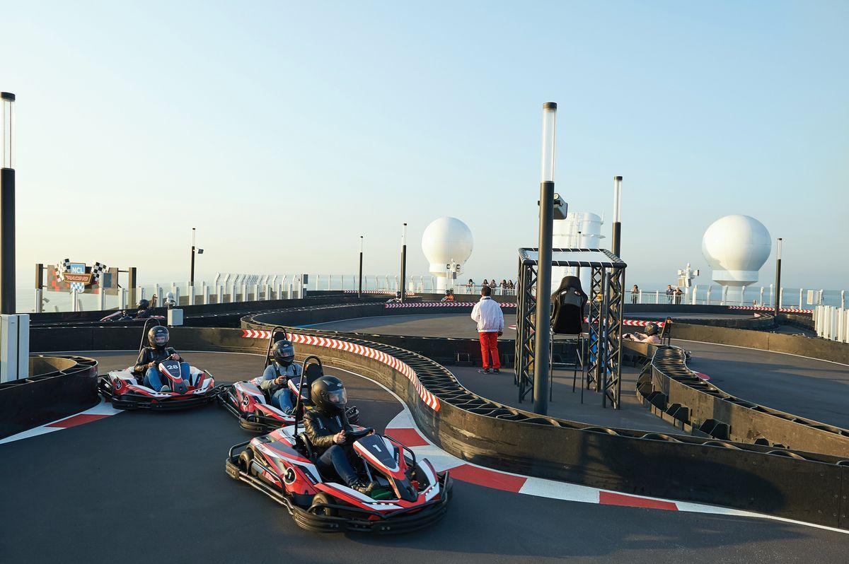 Norwegian Cruise Lines Have Onboard Go-Kart Tracks