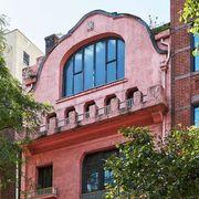 Brick, Architecture, House, Property, Brickwork, Building, Neighbourhood, Residential area, Urban area, Pink,