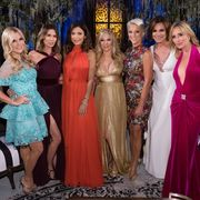 """THE REAL HOUSEWIVES OF NEW YORK CITY -- """"Reunion"""" -- Pictured: (l-r) Tinsley Mortimer, Carole Radziwill, Bethenny Frankel, Ramona Singer, Dorinda Medley, Luann D'Agostino, Sonja Morgan"""