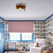 Room, Bedroom, Furniture, Blue, Interior design, Bed, Property, Bed sheet, Wall, Living room,