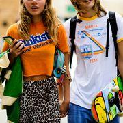 Yellow, Street fashion, Fashion, T-shirt, Fun, Event, Recreation, Child, Style,