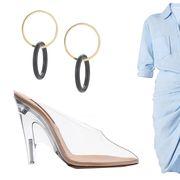 Clothing, White, Blue, Sleeve, Footwear, Dress, Outerwear, Blouse, Shirt, Dress shirt,