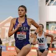 gabbi jennings running the steeplechase at the olympic trials in eugene, oregon in june 2021