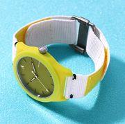 yellow one eleven swii sustainably solar watch