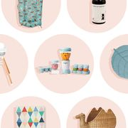 new baby clothes, nursery items, hair care products