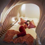 Room, Illustration, Bed, Organism, Comfort, Cg artwork, Photography, Interior design, Stock photography, Furniture,