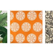 Leaf, Orange, Pattern, Pineapple, Botany, Design, Plant, Vascular plant, Textile, Rectangle,