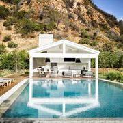 Swimming pool, Property, House, Natural landscape, Building, Home, Architecture, Estate, Real estate, Reflecting pool,