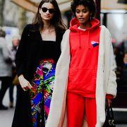 Clothing, Fashion, Street fashion, Fashion model, Outerwear, Fashion design, Footwear, Joint, Eyewear, Fun,