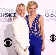 ellen degeneres and portia de rossi at the 41st annual people's choice awards