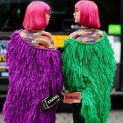 Green, Pink, Magenta, Wool, Purple, Yellow, Textile, Knitting, Fur, Woolen,