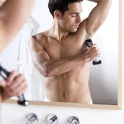Skin, Muscle, Arm, Barechested, Chest, Hand, Abdomen, Room, Photography, Hair removal,