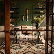 Room, Furniture, Building, Interior design, Table, Architecture, House, Floor, Home, Flooring,