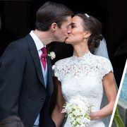 Clothing, Coat, Event, Petal, Dress, Thatching, Bridal clothing, Bride, Photograph, Suit,