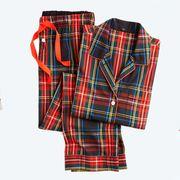 Clothing, Plaid, Tartan, Pattern, Pajamas, Nightwear, Robe, Outerwear, Textile, Design,