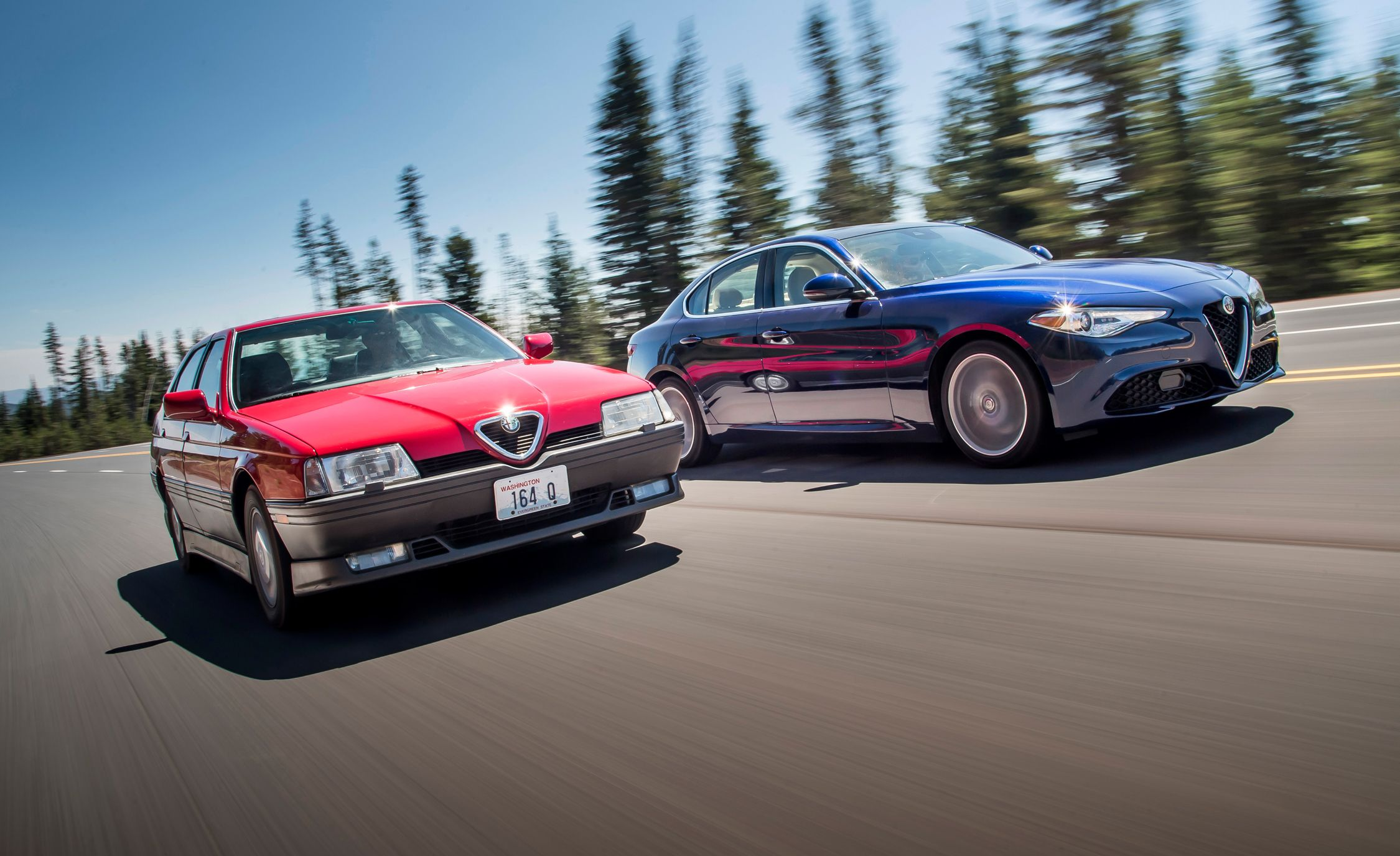 We Road-Trip a Pair of Alfa Romeos to the Last Remaining Blockbuster Video