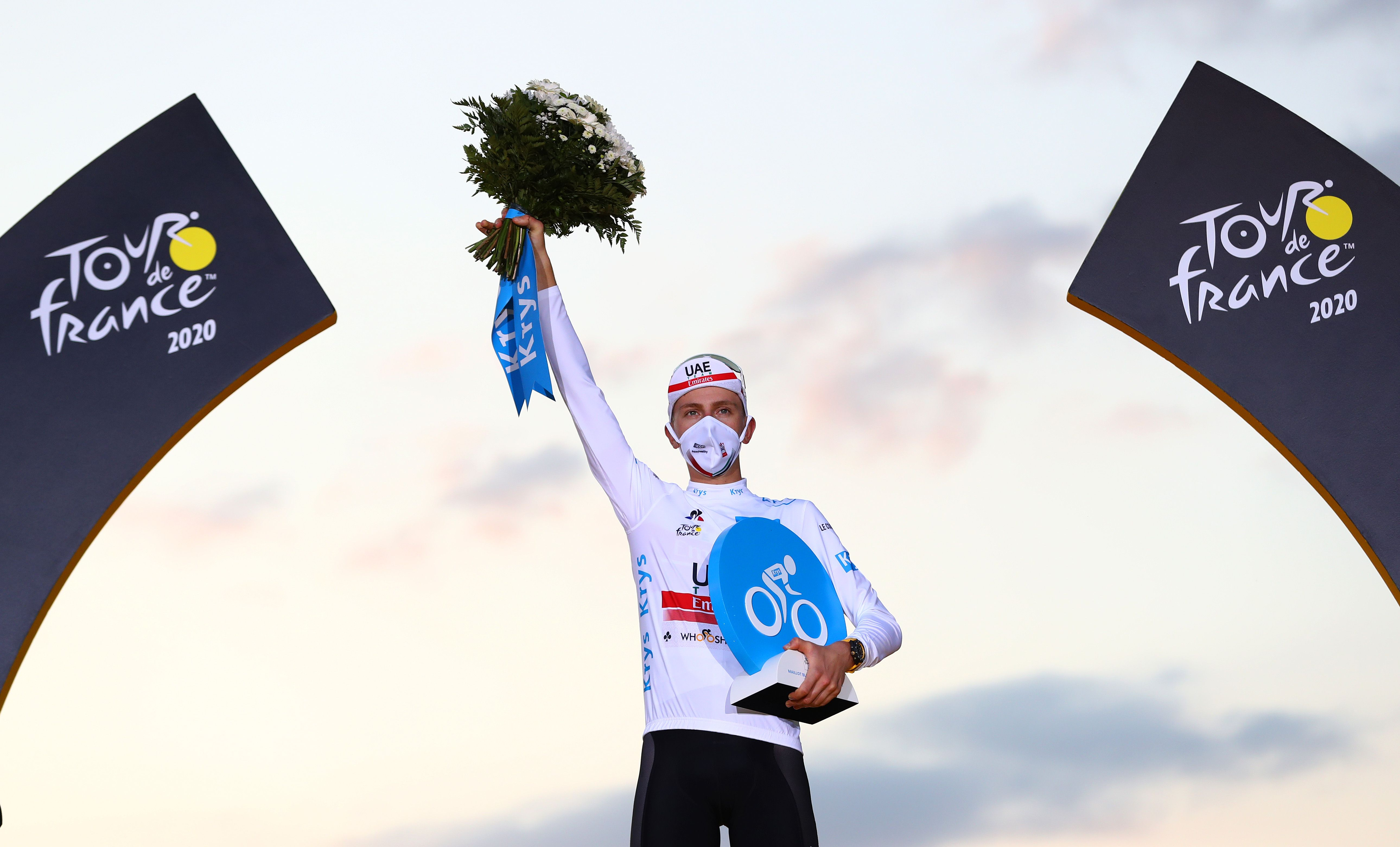 Tadej Pogacar also won the white jersey in 2020 for best rider younger than 25 years old.