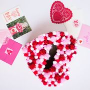 Red, Pattern, Pink, Magenta, Petal, Carmine, Paper product, Heart, Paper, Craft,