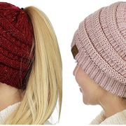 Knit cap, Clothing, Beanie, Woolen, Wool, Cap, Crochet, Headgear, Fashion accessory, Beige,