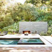 Natural landscape, Property, Backyard, Interior design, House, Home, Room, Tree, Yard, Furniture,