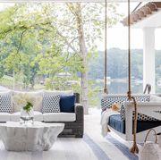 porch, seating, hanging seat
