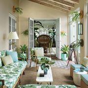 Living room, Room, Green, Interior design, Furniture, Property, Building, Ceiling, Home, House,