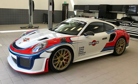 Moby Turns 40: Custom Martini Porsche 911 GT2 RS Honors 935/78 Moby Dick Racer