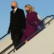 president elect joe biden travels to washington, dc day ahead of his inauguration