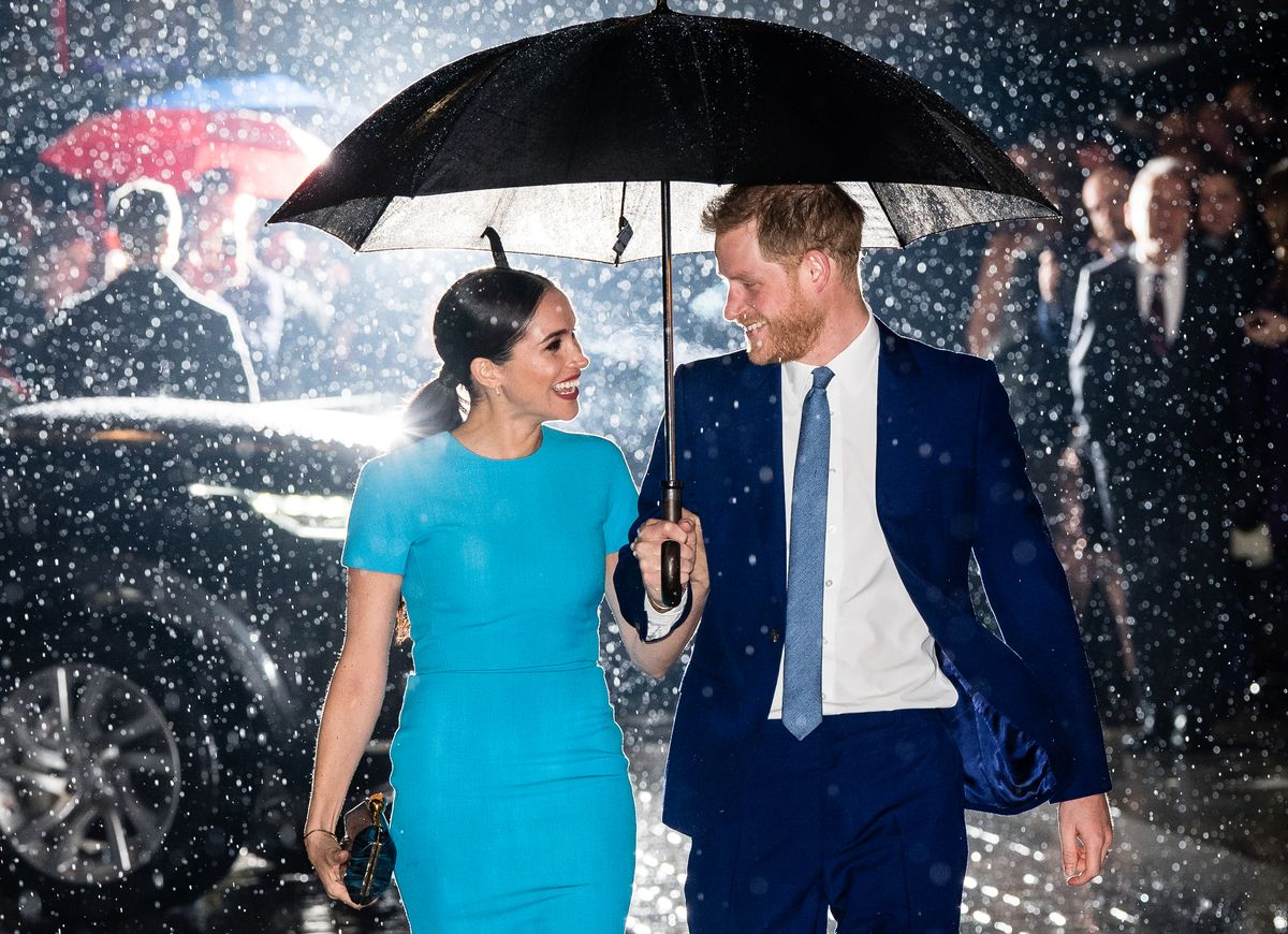 Harry and Meghan at one of their final public engagements as working royals in spring 2020.